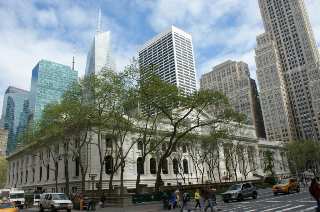 Budynek biblioteki najbardziej publicznej na świecie New York Public Library