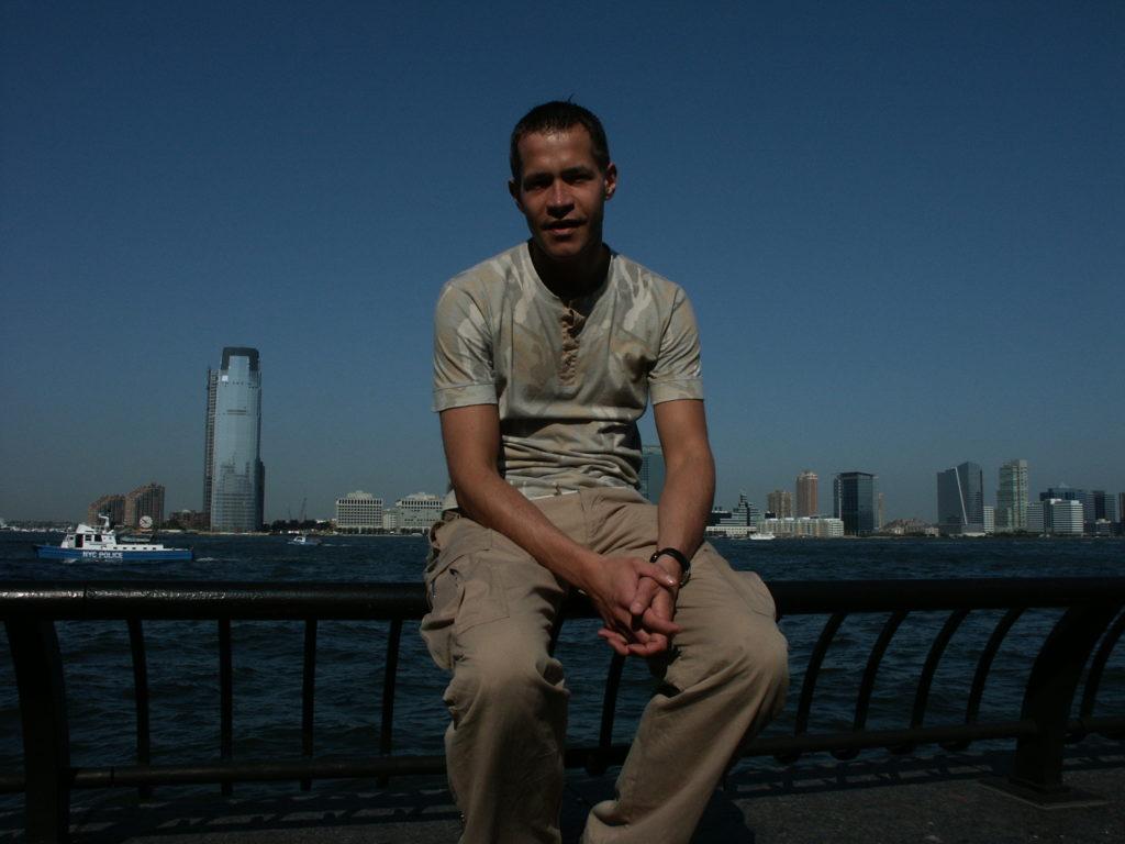Autoportret z widokiem na New Jersey
