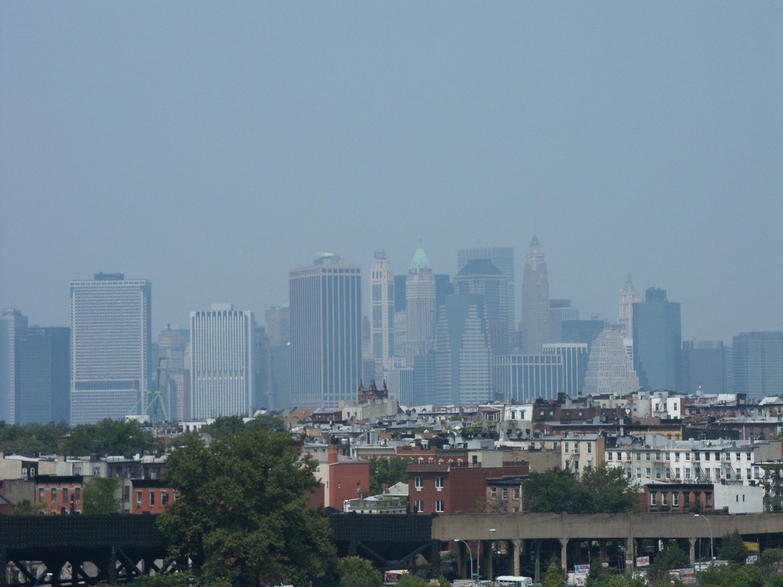 Widok na Manhattan z Brooklynu